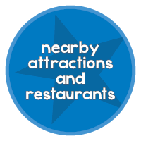 Attractions and restaurants with star