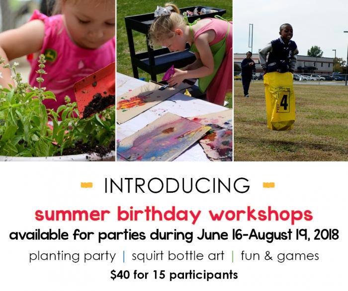 Birthday Summer Workshops FB Post