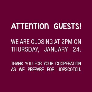 Closing at 2PM